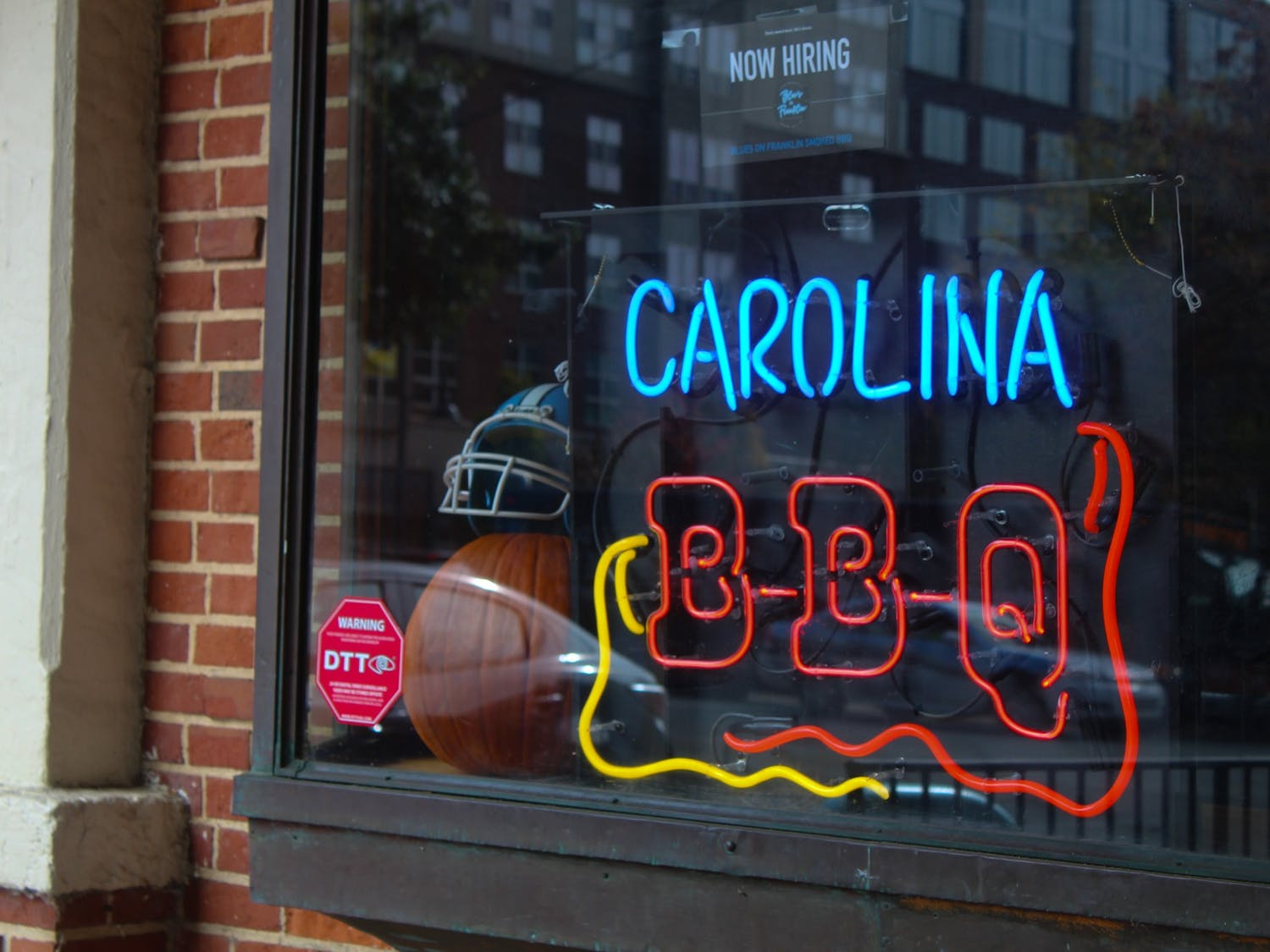 After a number of restaurant closings in the Chapel Hill area due to COVID-19, new businesses such as Andrew Young's Blue's BBQ, located at 110 W Franklin St, look to find success during the pandemic.