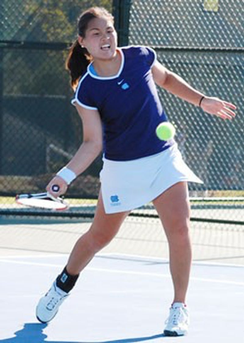 UNC junior Katrina Tsang won her singles match in an upset against Clemson but couldn?t manage a repeat against Duke on Saturday.
