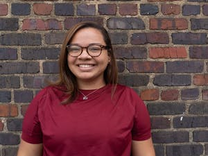 The Daily Tar Heel's Co-Photo Editor Maya Carter poses for a portrait on Sept. 15, 2019. Carter, class of 2020, is a psychology major.