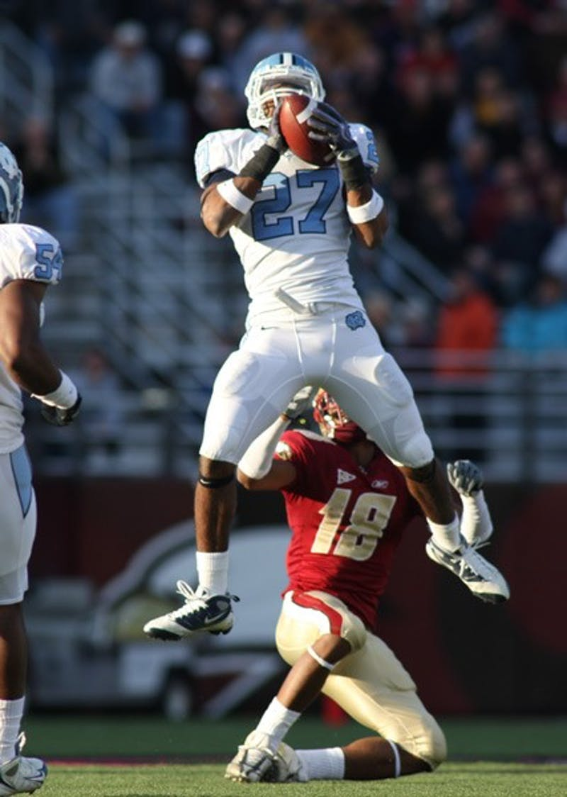 Deunta Williams hauled in three interceptions against Boston College. DTH/Andrew Johnson