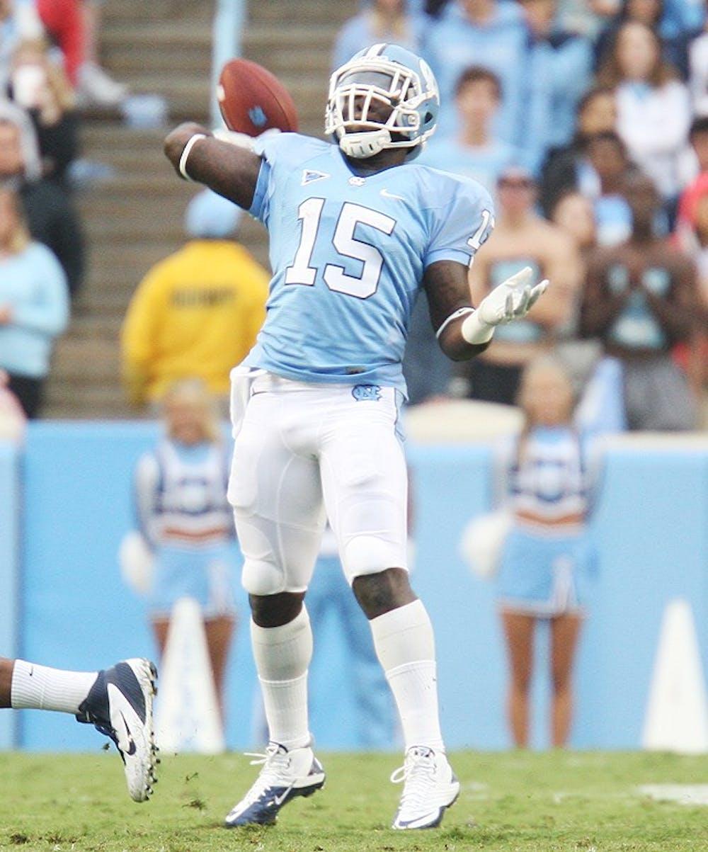 North Carolina tailback A.J. Blue has breakout game against Uva.
