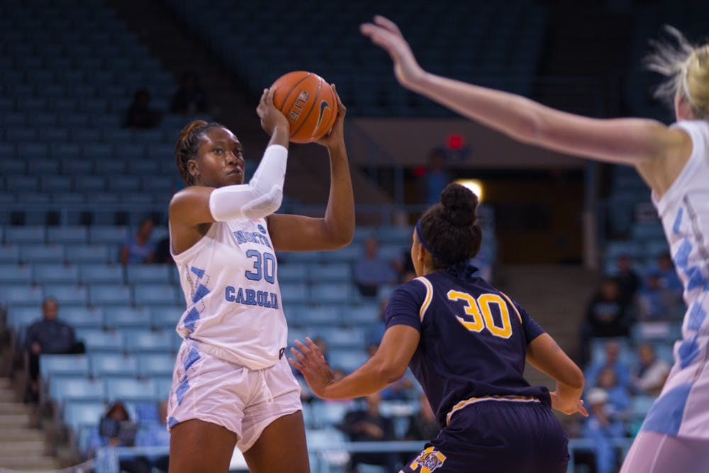 Tar Heels sail past Navy, 80-40, behind Janelle Bailey's 20 points