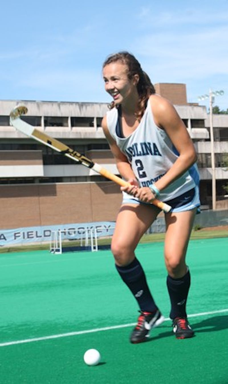 "Loren Shealy is a Robertson Scholar field hockey player who is going to Duke in the spring but will still play for UNC. She said that the team is really exciting about their game against Duke tomorrow. ""I'm excited to take classes there in the spring- it's a great university- and we are big rivals but when I hit the field it's all Carolina,"" Loren said. ""It will be a great learning experience,"" she said."