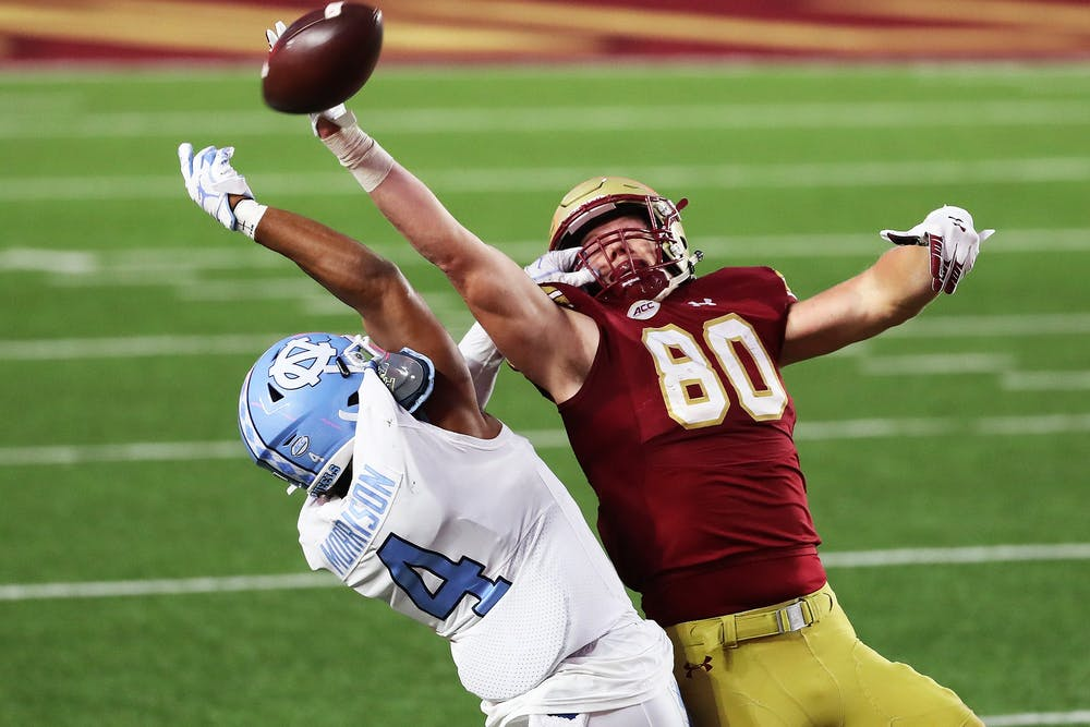 Trey Morrison's pick-two gives UNC football its second victory of the year