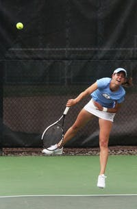 UNC's Zoe De Bruycker fought tooth-and-nail Sunday against Clemson's Jospia Bek in a thrilling three-set tiebreaker. De Bruycker's win on Court No. 1 against the nation's No. 10 player gave UNC its ninth ACC win.
