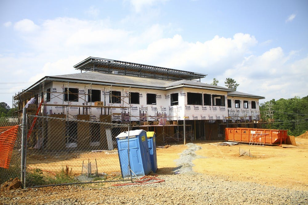 <p>Construction continues on the Chapel Hill-Carrboro Inter-Faith Council for Social Services' men's homeless shelter and community kitchen's new location.</p>