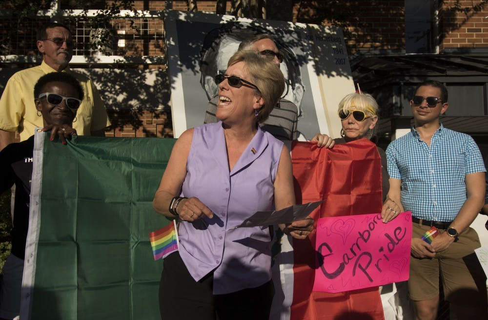 Rainbow flags all around: Carrboro Pride Walk honors LGBT pioneer Joe Herzenberg