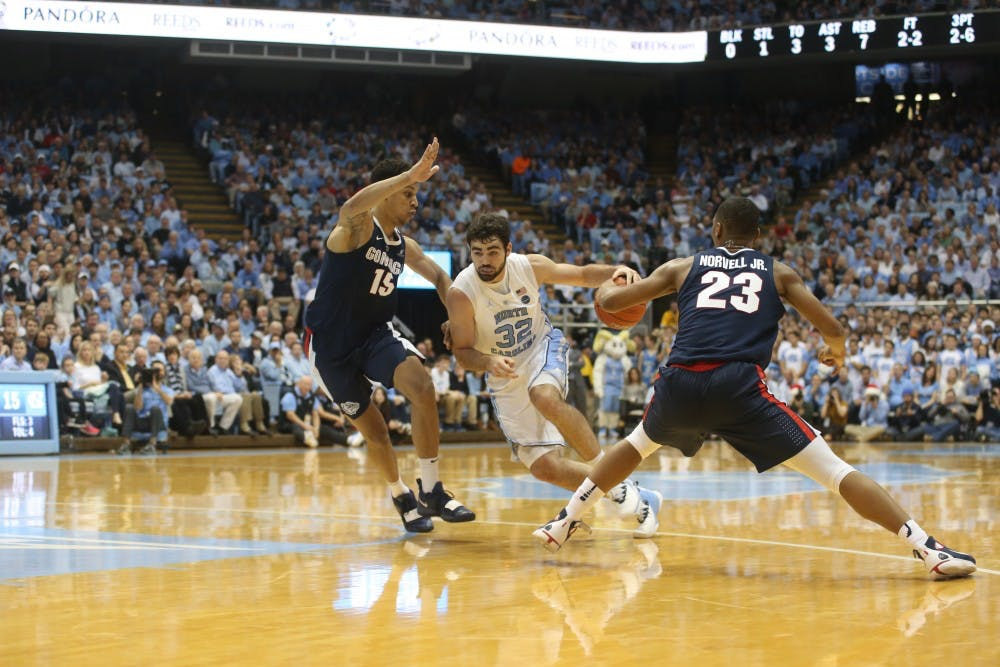 After slow start to season, Luke Maye elevates UNC in strong performance over Gonzaga