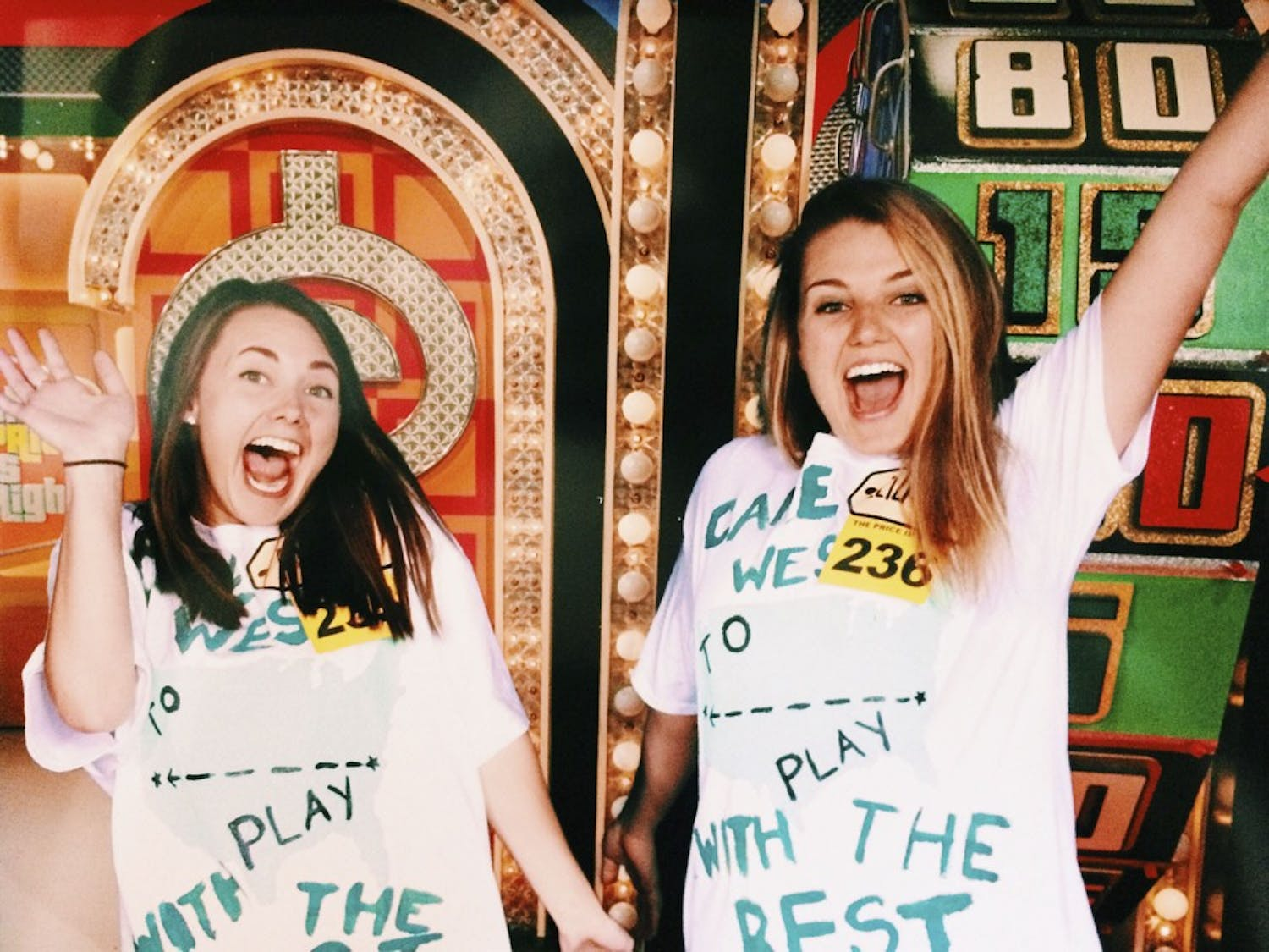 "McKay Bartlet (left) and Elizabeth Grady were selected to participate in ""The Price is Right"" gameshow. Photo Courtesy of Elizabeth Grady."
