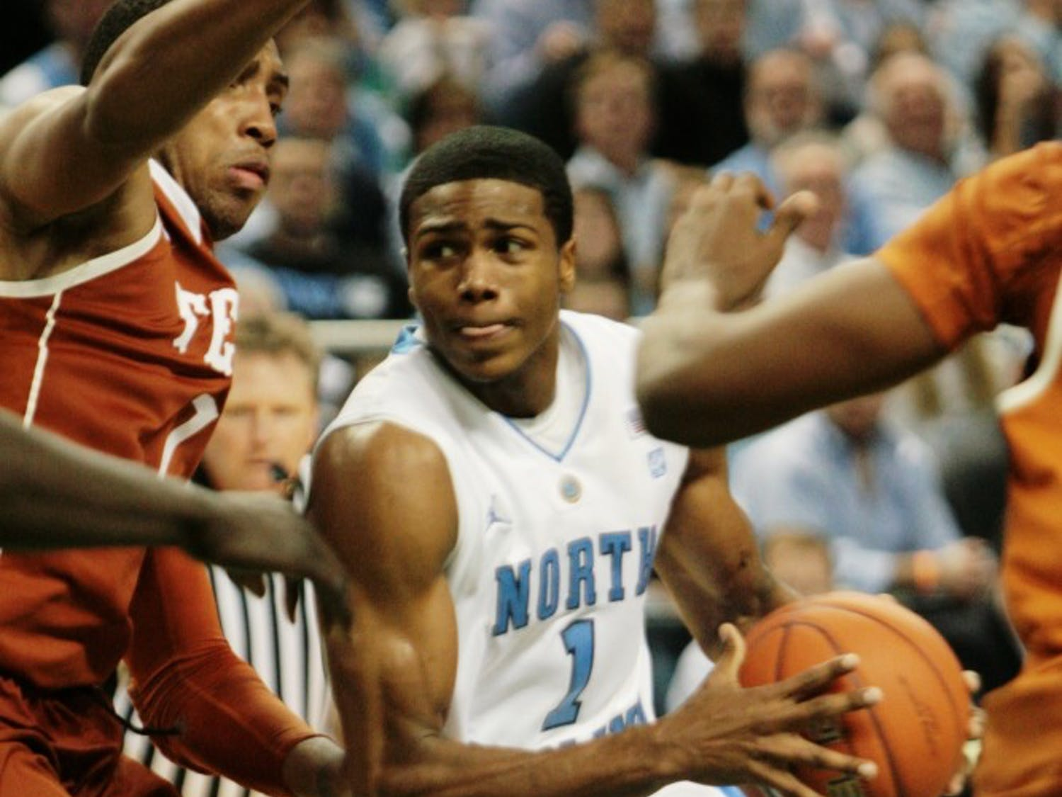 Dexter Strickland scored a team-high 18 points and dished out three assists in UNC's loss to Texas on Saturday in Greensboro.