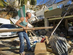 Hurricane Maria left a path of destruction on the island of Puerto Rico. Having set up a supply and logistics hub on the island following Hurricane Irma, Samaritan's Purse increased its capacity to provide aid—including emergency shelter materials and hygiene kits—to those living in Puerto Rico. Photo and caption courtesy of Samaritan's Purse.