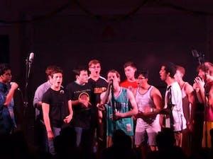 "The UNC Achordants perform during their 2016 fall concert ""(Not So) Superheroes."" Photo courtesy of Brett Buchman."
