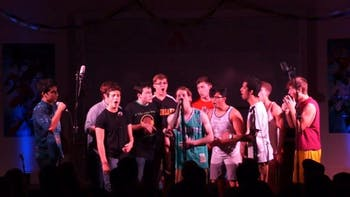 "The UNC Achordants perform during their 2016 fall concert ""(Not So) Superheroes."" Photo courtesy of Brett Buchman."