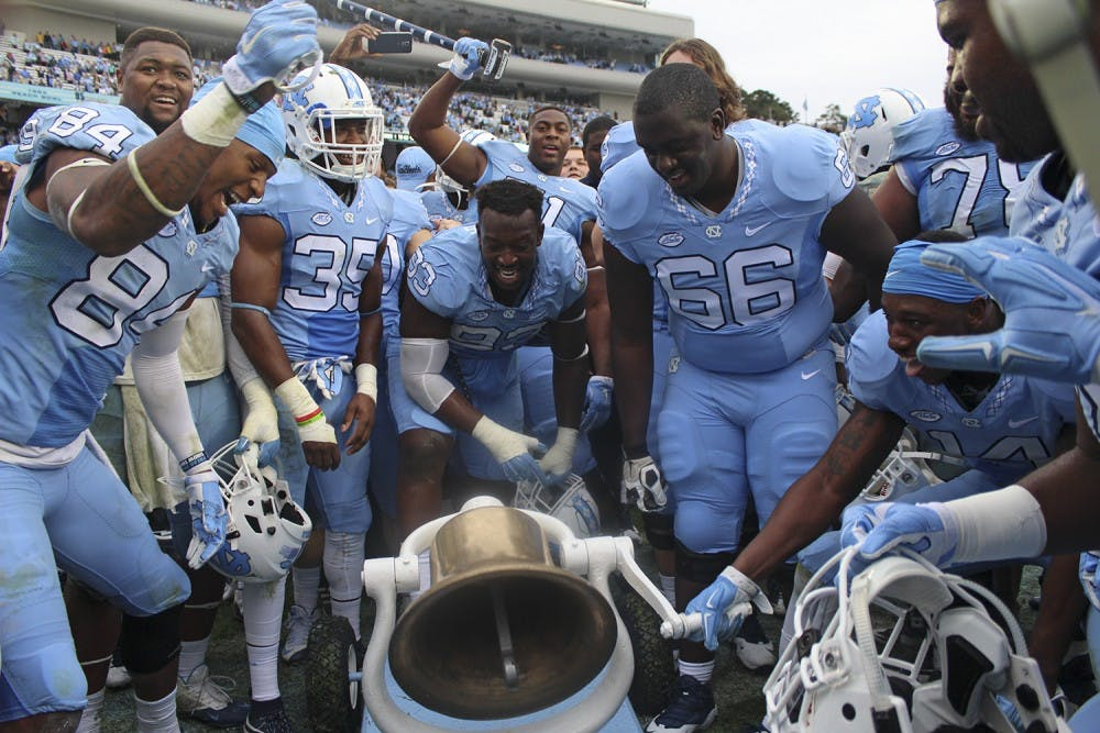 UNC football remembers Victory Bell painting ahead of short week against Duke