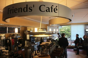 Friends' Cafe is located on the first floor of the Health Sciences Library.