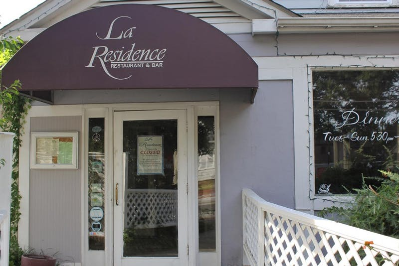 La Residence, restaurant and bar located on Rosemary Street, is currently closed due to renovations caused by a fire this past summer.
