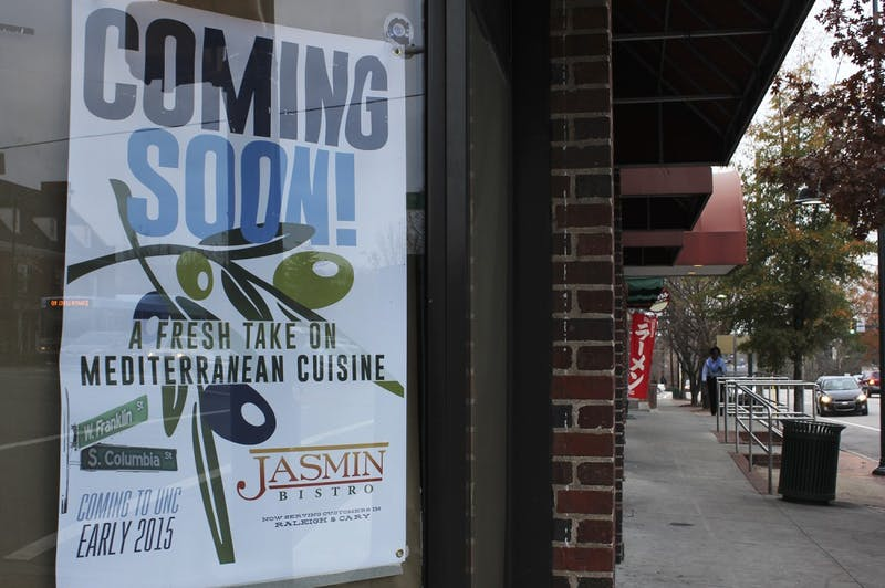 A New Mediterranean restaurant, Jasmin Bistro, is set to move into Qdoba Grill's old space on Franklin St. in early 2015.
