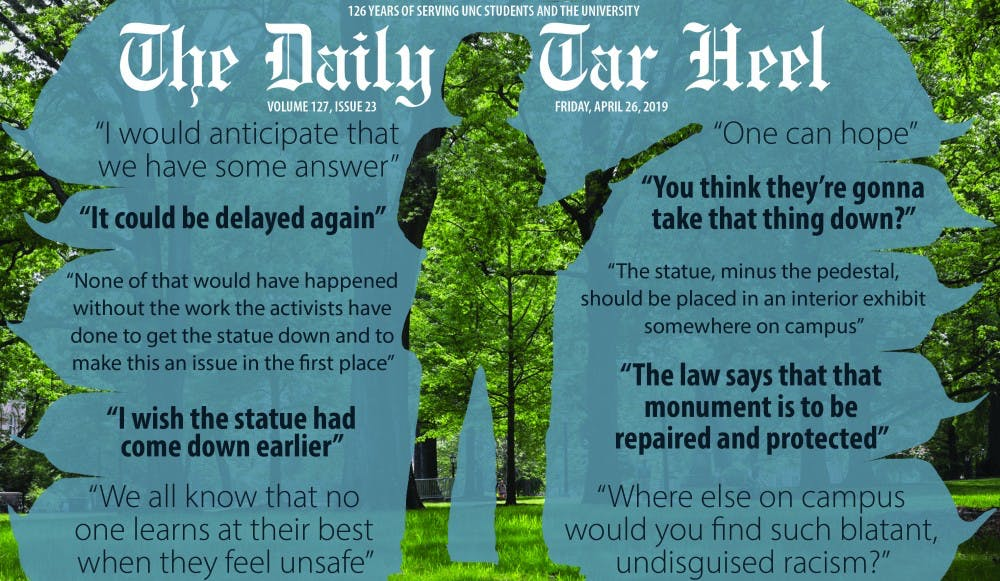 In less than a month, the Board of Governors will present a plan for Silent Sam