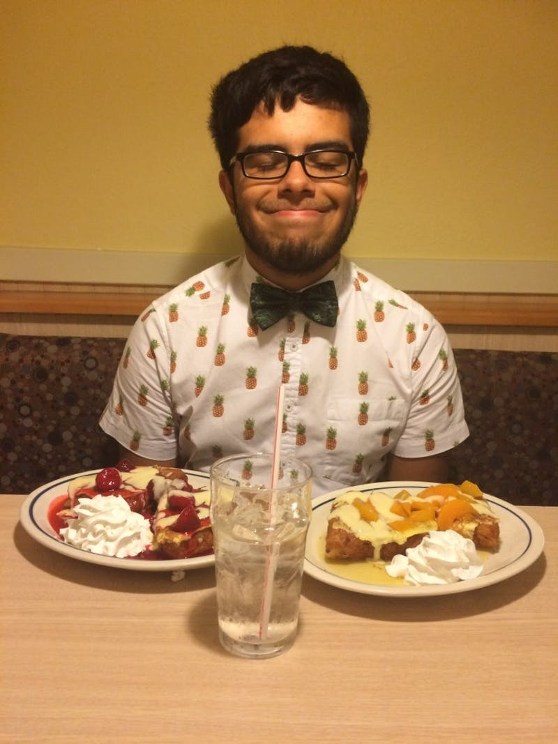 José Valle at IHOP for his 21st birthday dinner.