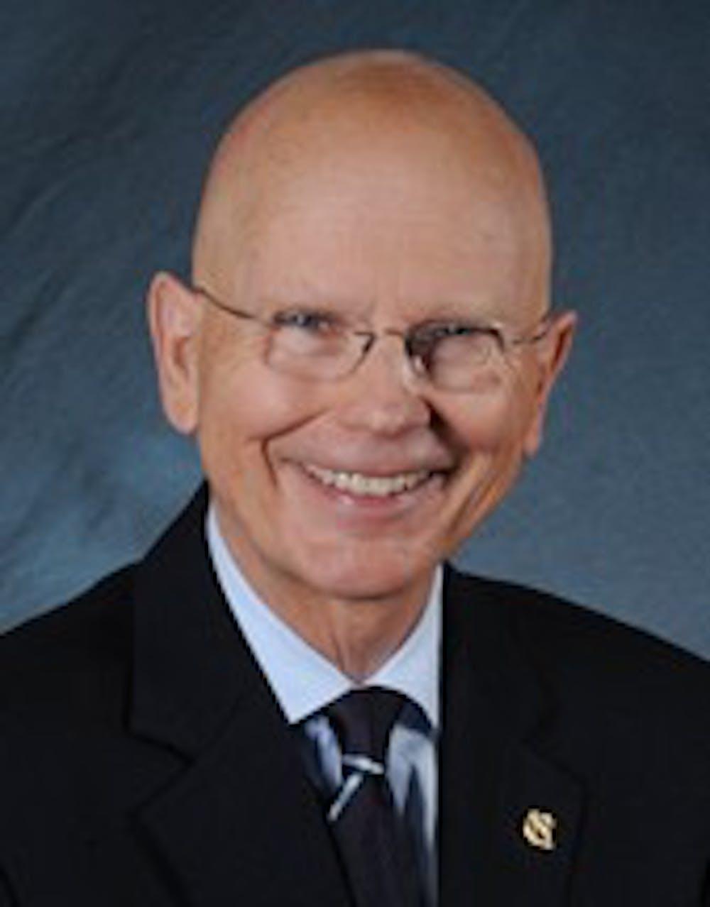 Chancellor James Moeser at the University of North Carolina at Chapel Hill.