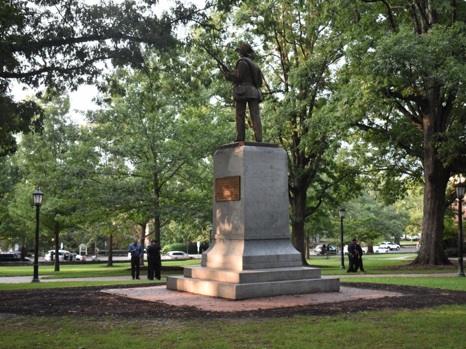 UNC's Confederate monument, Silent Sam, was toppled by protestors on Aug. 20.