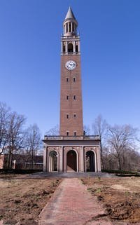 UNC facilities and maintenance started day two of the Bell Tower landscape renovation project Wednesday, Feb. 13, 2019. The project is meant to improve the safety of pedestrians and utilize land that was formerly not used by the university.