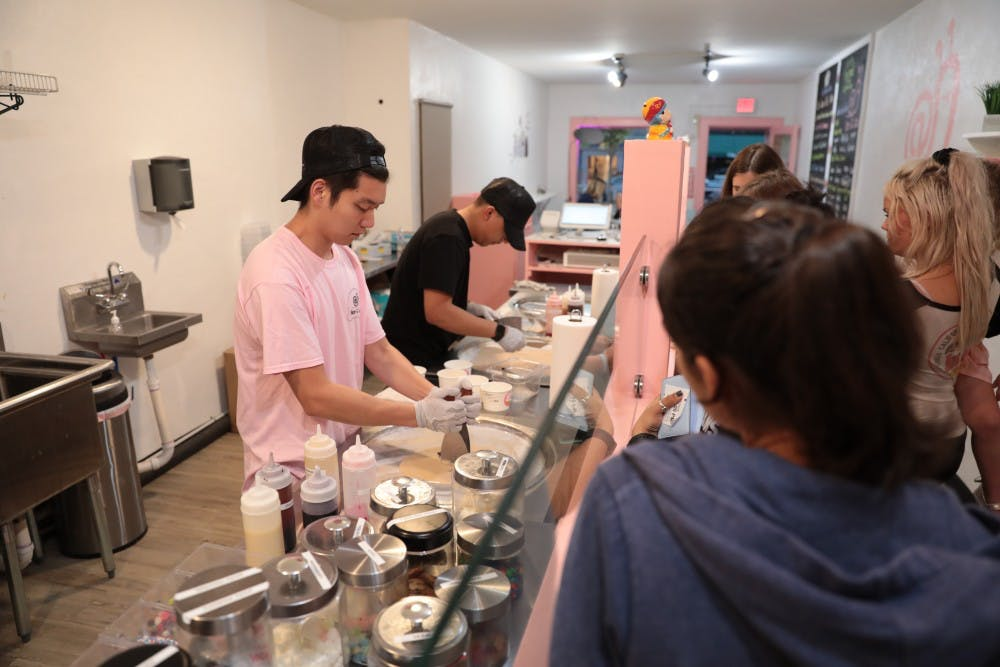Rolled ice cream debuts on Franklin Street