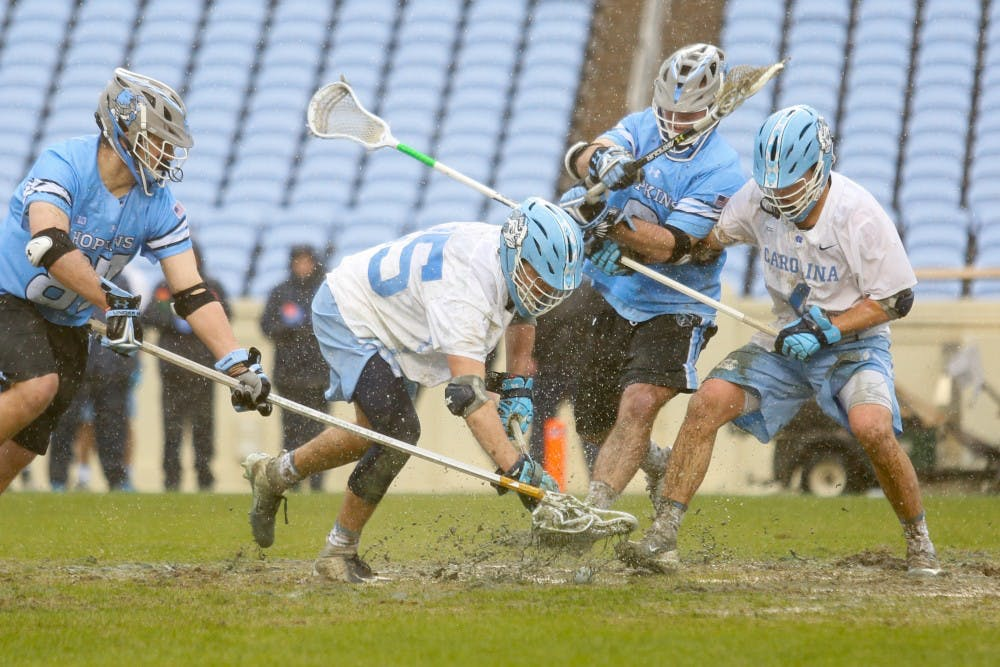 No. 14 UNC men's lacrosse loses first game of the season to Johns Hopkins, 11-10