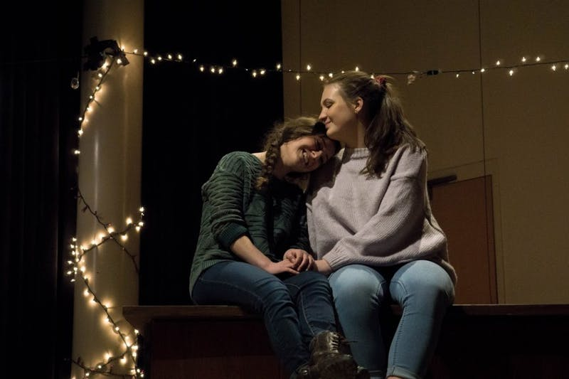 """Catherine Baird (left) and Caroline Greelish (right) are performing in """"Sisterly: A Memory Play."""" Photo courtesy of Caroline Almy."""