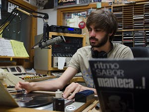 Grant Bisher, a junior German and comparative literature major, has worked at WXYC since his first semester at UNC.