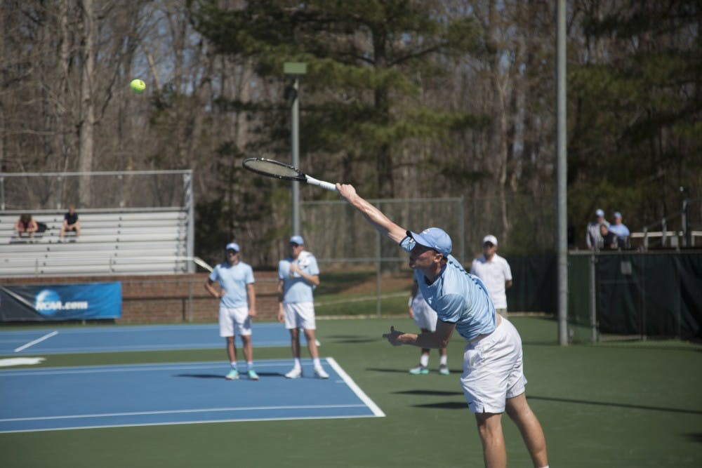 No. 3 Wake Forest snaps No. 11 UNC men's tennis three-match win streak with 5-2 win