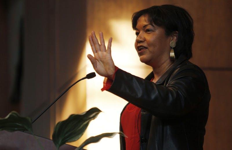 Helene Cooper, New York Times White House correspondent, spoke at UNC Tuesday.
