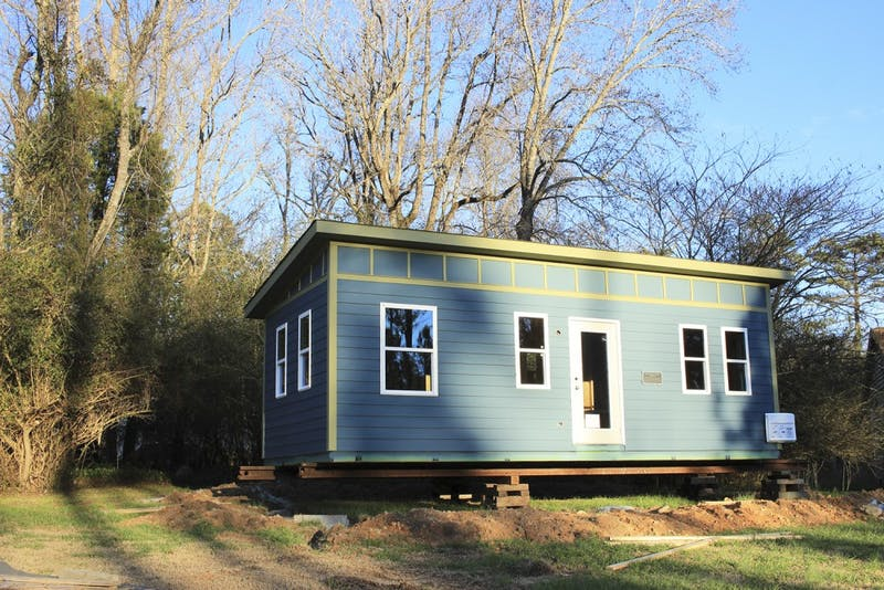 UNC's Center for Excellence in Community Mental Health is helping create a tiny home community at the Farm at Penny Lane for homeless people with mental illness.