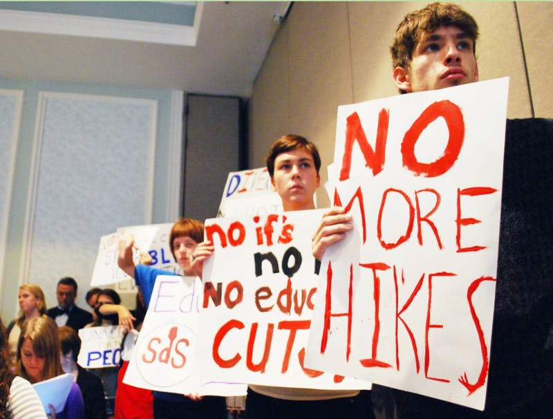 The Board met to determine whether or not there should be a full-board meeting about raising tuition.
