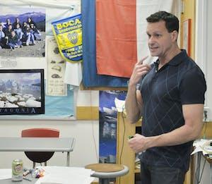 Ken Stewart teaches an Honors Spanish 4 class at Chapel Hill High School.