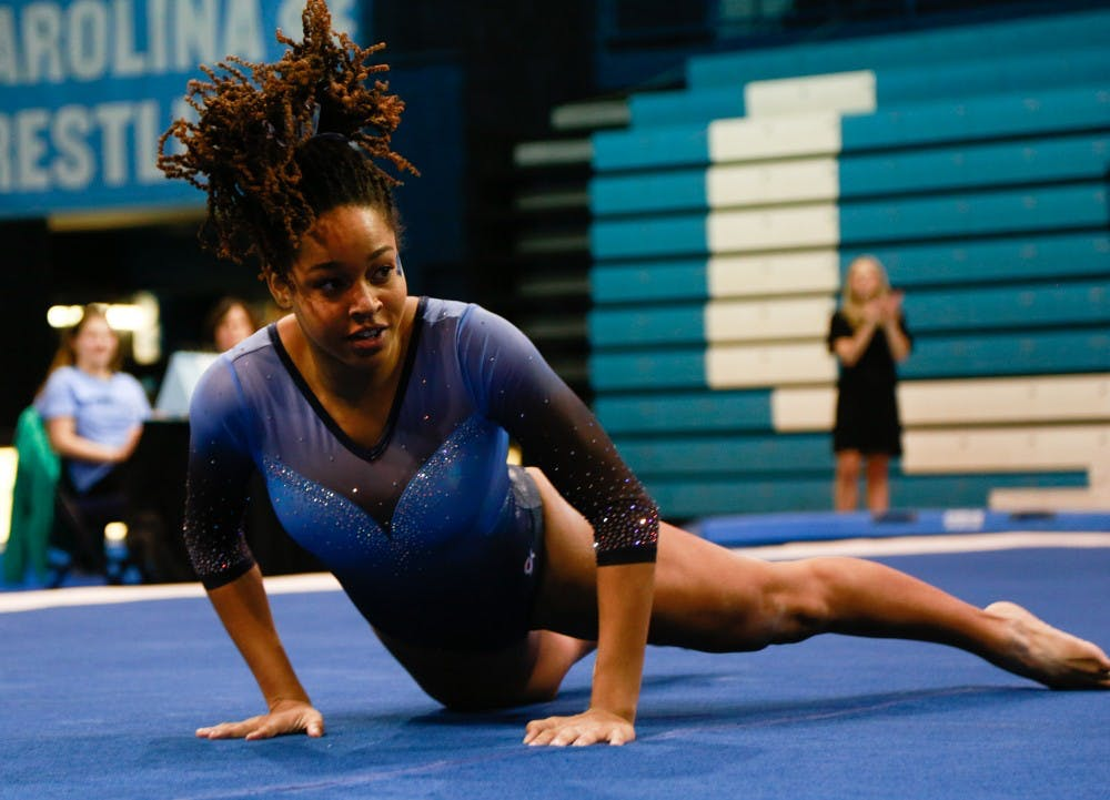 UNC gymnastics impresses on floor in win over Towson