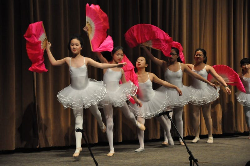 Students from the Chinese School at Chapel Hill perform at the Friday Center during the Chinese New Year Festival on Sunday, February 18th.