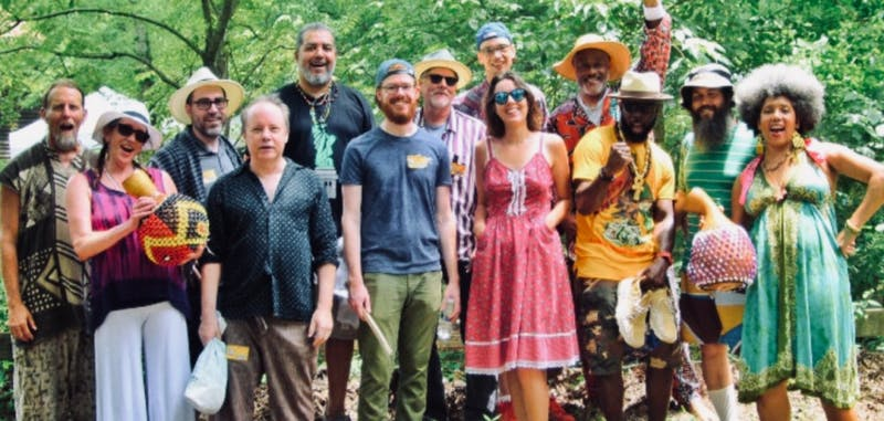 Triangle Afrobeat Orchestra will be collaborating with Paperhand Puppet Intervention to celebrate the arts and fundraise for public school arts programs. Photo courtesy of Labarrian Jones.
