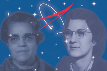 "Virginia Tucker and Dorothy Vaughan served as human ""computers,"" completing calculations for NASA. Both women once lived in North Carolina.  (Original photos courtesy of Morehead Planetarium and Science Center)"