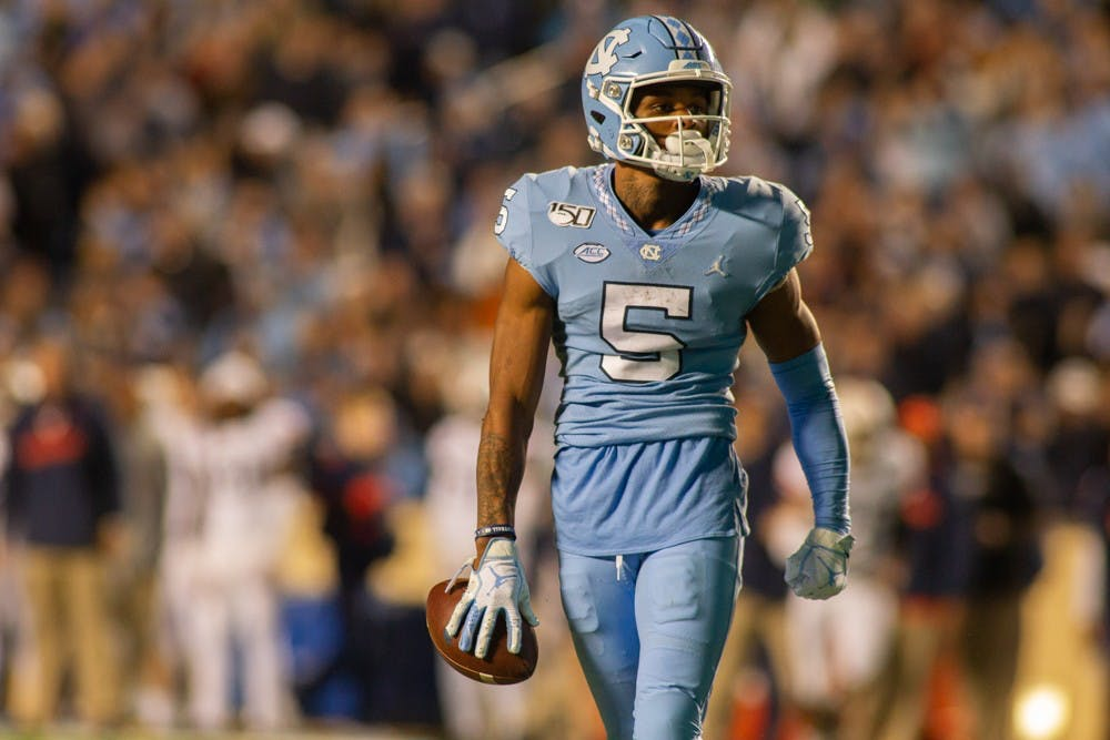 Brown, Newsome and Carter join UNC football's thousand-yard club in Military Bowl win