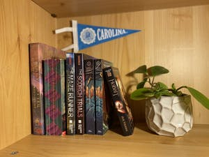 With many UNC students being sent home due to COVID, some have been revisiting their favorite childhood books, including The Maze Runner, the Percy Jackson series, and the Harry Potter series.