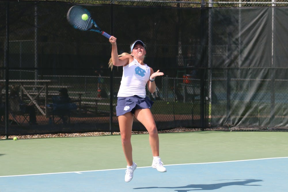 No. 1 UNC women's tennis falls apart after doubles, loses handily to Duke, 5-2