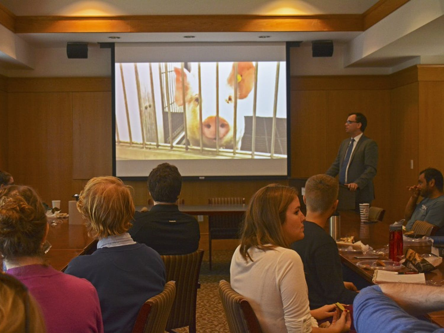 Ryan Merkley, Director of Research Advocacy at the Physician's Committee for Responsible Medicine, speaks at Saving Animal and Human Lives