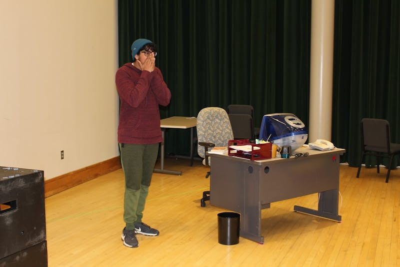 """Kenan Theatre Company's upcoming production, """"Indeed, friend!"""" which runs from Feb. 27 through March 2, revolves around the work of students in the office of an undergraduate literary magazine, set in the 2001-2002 academic year. Photo courtesy of Hannah Wittington."""