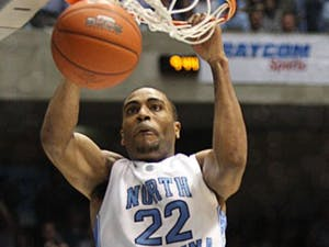"""Wayne Ellington scalded the Maryland defense with 12-for-15 shooting. The junior finished with 34 points"""" just two short of his career high."""