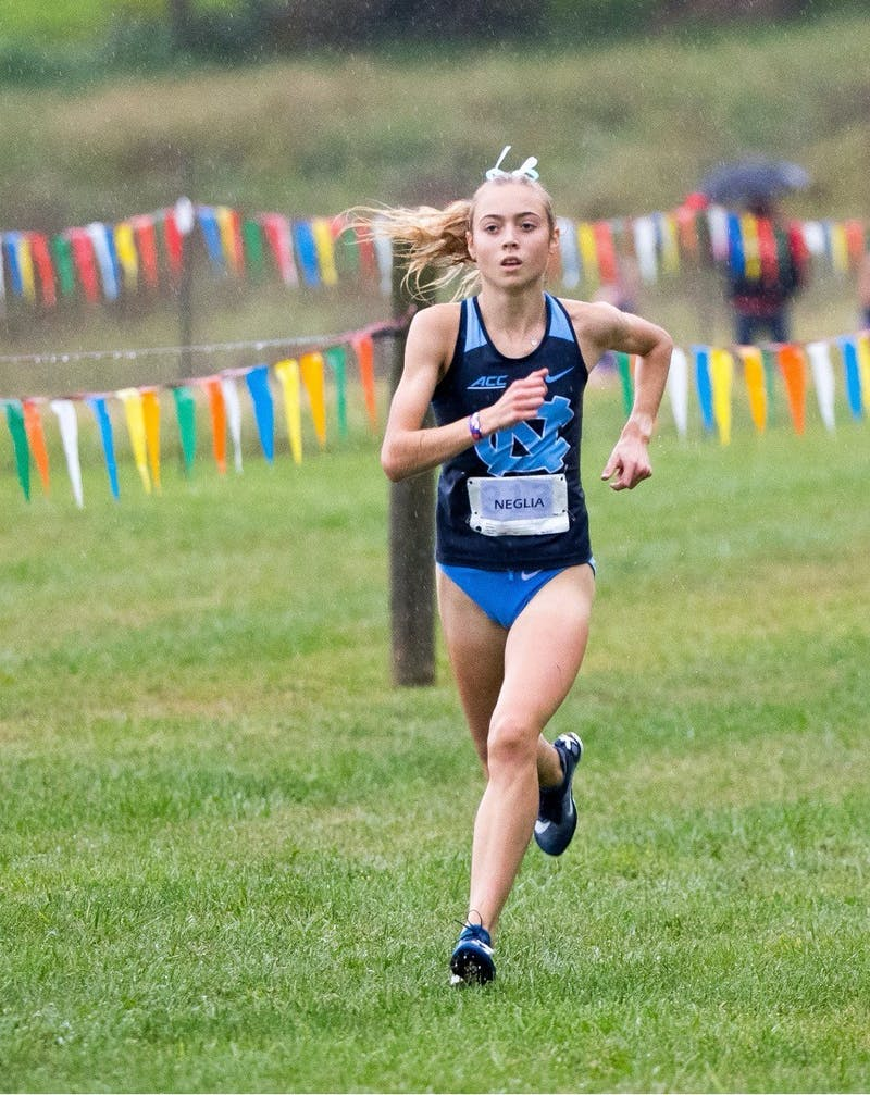 UNC First-Year cross country runner Sasha Neglia. Photo courtesy of UNC Athletic Communications.