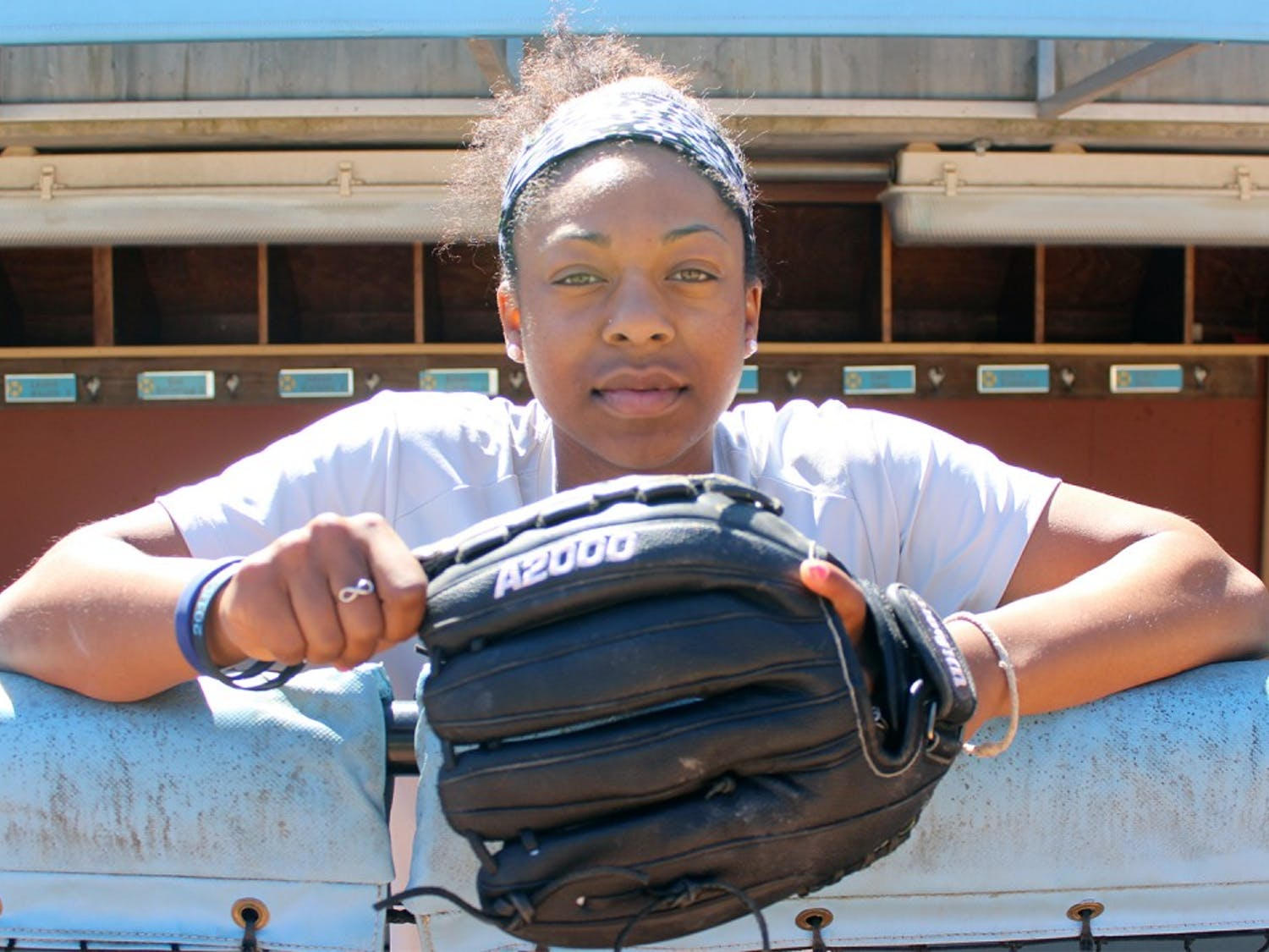 Centerfielder Aquilla Mateen currently leads the North Carolina softball team in both hits and stolen bases. Her athleticism helped her on the way to All-ACC honors during her sophomore campaign.