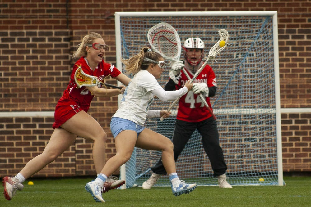 UNC women's lacrosse cruises past Davidson in home opener