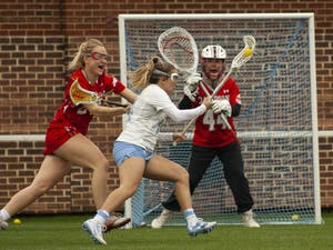 First-year midfielder and defender Livi Lawton scored a point against Davidson at Dorrance Field on Sunday, feb. 16, 2020. This was Lawton's second career goal. UNC defeated Davidson with a score of 22-5.