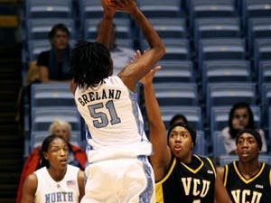 """Jessica Breland and UNC?s other three post players excelled this weekend"""" scoring a combined 29 points Friday and 27 points Sunday."""